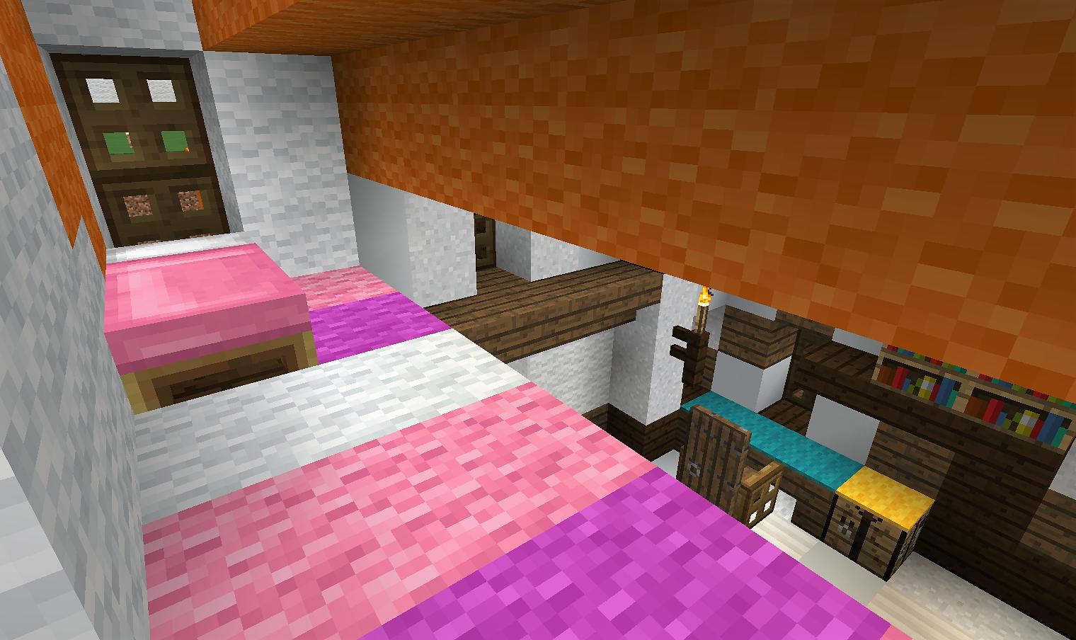 ピンクのベッド1.png